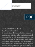 Analisis Proyectual Habitat Humano