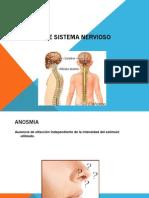 Síntomas de sistema nervioso