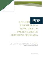 Qualificação registral - alienação fiduciária - instrumento particular