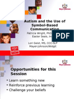 Symbol Use and Autism