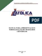 Manual Monografia Faculdade Católica Dom Orione Araguaina-TO