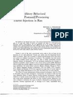 1976 - Persinger, Valliant & Falter - Developmental Psychobiology - Weak Inhibitory Behavioral Effects of Postnatal