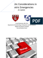 Anesthetic Considerations in Obstetric Emergencies