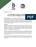 Press Release- AMCHAM Philippines on ASEAN Outlook Survey