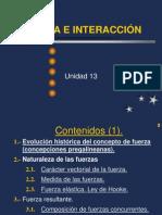13 Fuerza e interacción