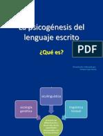 La psicogénesis del lenguaje escrito