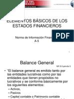 NIF A-5 elementos básicos Edos Fin.