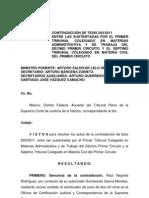 Contradicción de Tesis 293-2011 Proyecto Zaldívar