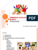 PRIMEROS AUXILIOS Preescolar