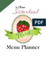 March Menu Planner