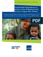 The Impact of Out-of-Pocket Expenditures on Families and Barriers to Use of Maternal and Child Health Services in Papua New Guinea