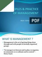Principle &Practice of Management