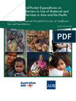 Impact of Out-of-Pocket Expenditures on Families and Barriers to Use of Maternal and Child Health Services in Asia and the Pacific