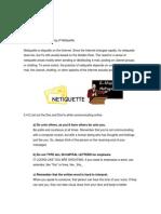 Module 3 Netiquette Notes