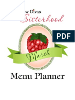 March Green Menu Planner