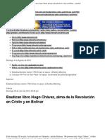 Bautizan libro Hugo Chávez, alma de la Rev. en Cristo y en Bolívar, 28-7-13