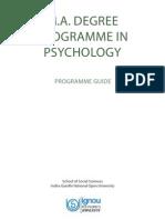 m.a.(Psychology)Programme Guide IGNOU