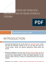 teaching formulation in behivioural terms