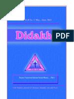Didakhe - May_June, 2013