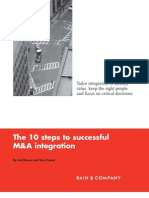 BB the 10 Steps to Successful M and a Integration