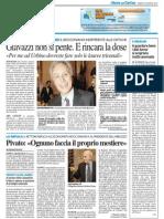 """Giavazzi non si pente / Pivato """"ognuno faccia il proprio mestiere"""" - Il Resto del Carlino del 24 agosto 2013"""