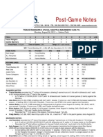 08.26.13 Post Game Notes