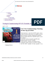 Testing & Commissioning of VAV (Variable Air Volume)  Method Statement HQ