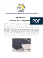 Celine Power Plug & Power Photovoltaic (PV) Solar System in Spain
