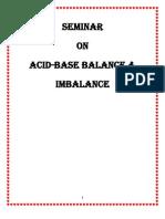 Acid Base Balance and Imbalance