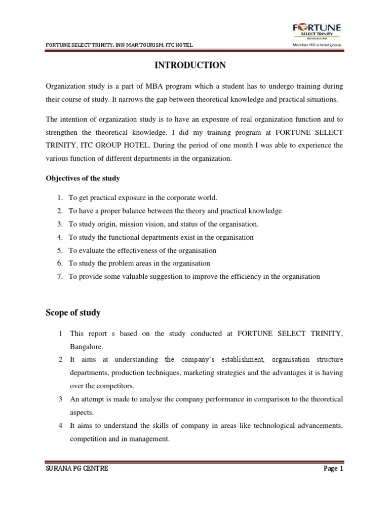 Internship project report itc hotel done by ravi kumar hs mba internship project report itc hotel done by ravi kumar hs mba tourism hotel thecheapjerseys Choice Image