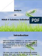 Case Analysis of Nitish@ Solutions Unlimited