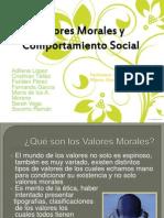 Valores Morales y Comportamiento Social Eq1