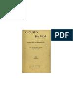 O Custo Da Vida Na Cidade Do Rio de Janeiro - Affonseca Junior (1920)