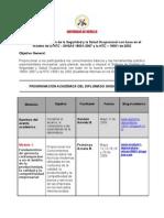 (A) Programación Académica del Diplomado NTC OSHAS 18001
