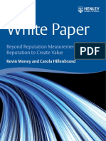 Cl-White Paper Reputation K Money C Hillenbrand
