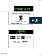 Newspaper Web Revenue Strategy 6.10.09