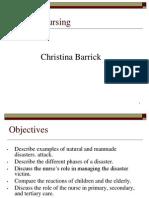 Disaster Nursing.revised
