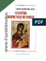 Cuvinte Despre Viata de Familie _ Sf Ioan Gura de Aur