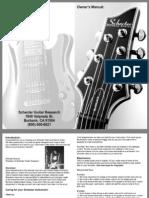 Schecter Electric Guitar Manual