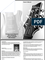 Schecter Electric Guitar Manual