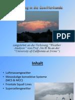 Einführung in die Gewitterkunde