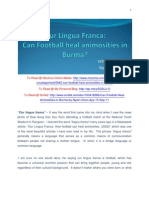 Can Football Heal Animosities in Burma by Nyein Chan Aye - 15-Sep-11