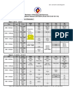 UNIMAS Nursing Sem I 2013/2014 Master Course Time-table
