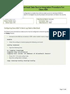 Alienvault Data Source Integration - Cisco ASA | Secure