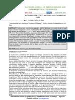 Formulation of Mucoadhesive Tablet2011