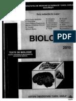 Biologie - Teste Admitere 2010 UMF Carol Davila Bucuresti