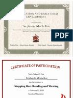 portfolio certificates