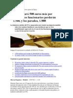Impacto Directo Del Nuevo Ajuste de Rajoy en Las Familias