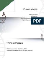 Propunere Proiect Stiintific de Cercetare