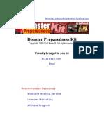 Disaster Preparedness Kit 2003